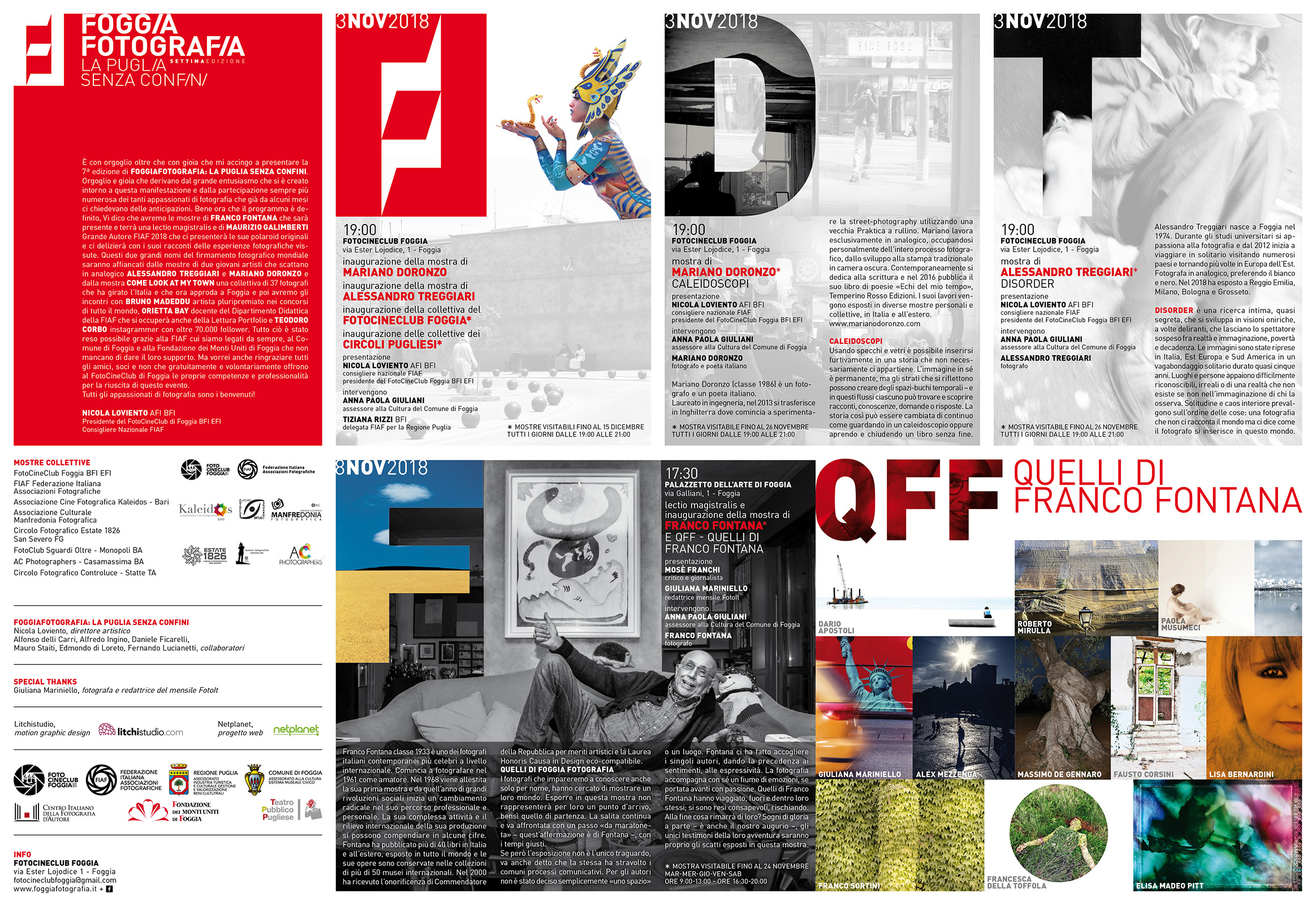 Collettiva Franco Fontana e Quelli di Franco Fontana, Foggia Fotografia 2018.