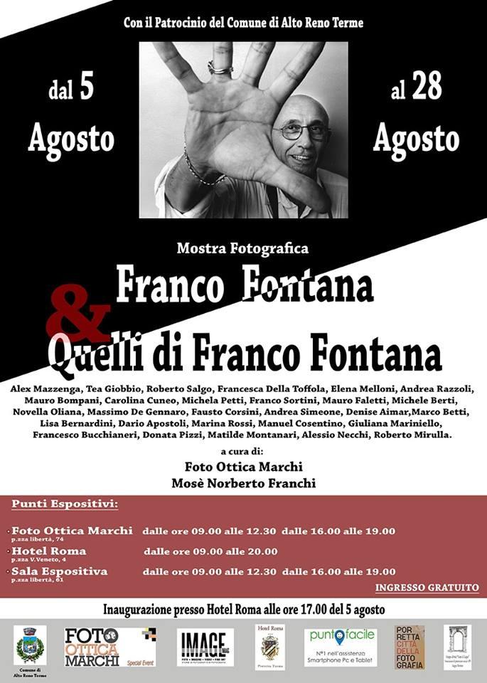Collettiva Franco Fontana e Quelli di Franco Fontana, Porretta Terme.